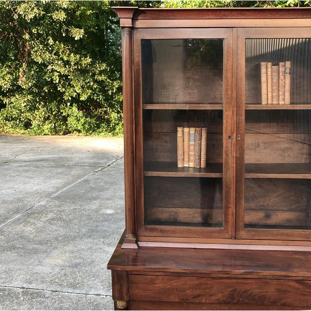Metal 19th Century Empire Bookcase ~ Vitrine For Sale - Image 7 of 12
