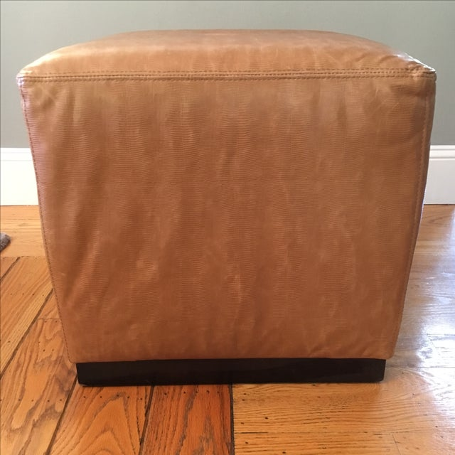 Williams-Sonoma Home Robertson Leather Ottoman - Image 2 of 6