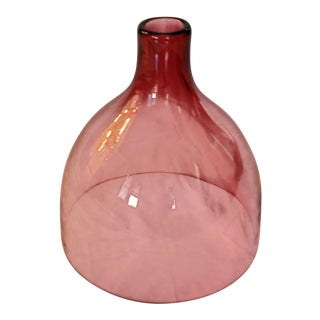 Contemporary Red Sklo Bell Jar For Sale