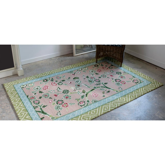 Green Madcap Cottage Under a Loggia Blossom Dearie Multi Indoor/Outdoor Area Rug 8' X 10' For Sale - Image 8 of 10