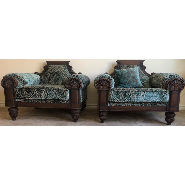 Vintage Mid Century Wooden Solid Teakwood Sofa Set- 2 Pieces For Sale - Image 9 of 9