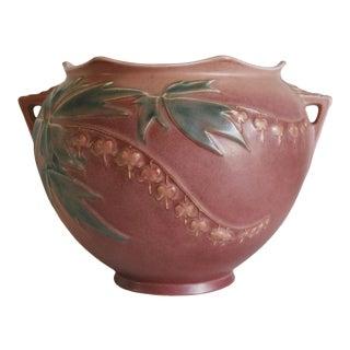 1930s Roseville Pottery Bleeding Heart Jardeniere For Sale