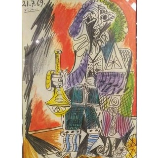 """""""Man With Horn"""" Original Poster After Pablo Picasso For Sale"""