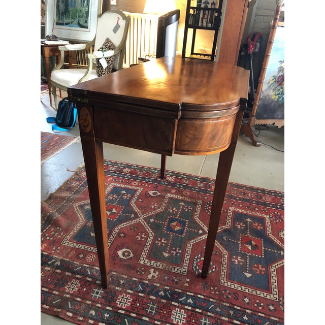 1780 Hepplewhite Inlayed Mahogany Game Table For Sale In Minneapolis - Image 6 of 13