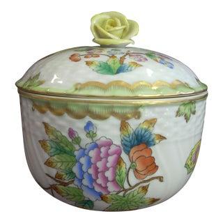 1950s Vintage Herend Covered Jar For Sale
