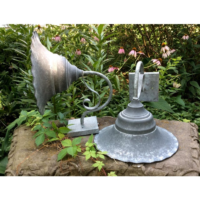 Vintage Smith and Hawken Galvanized Sconces - Pair - Image 7 of 8