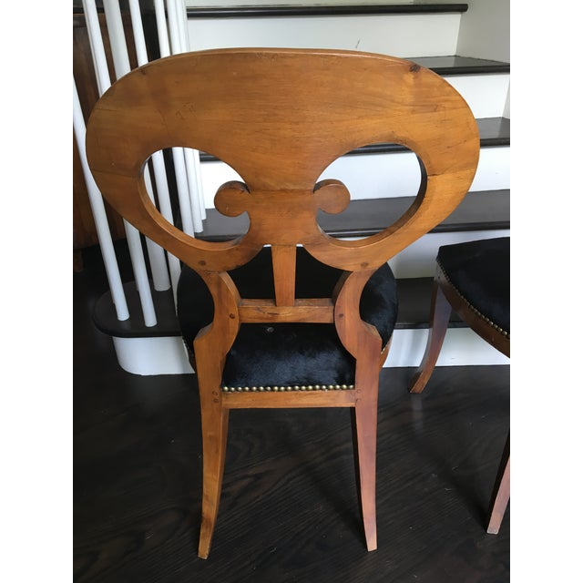 Pair of 19th Century Biedermeier Chairs For Sale In Charleston - Image 6 of 9