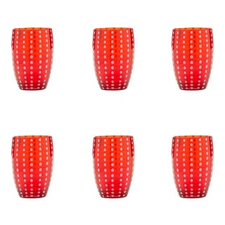 Perle Tumbler in Red - Set of 6 For Sale