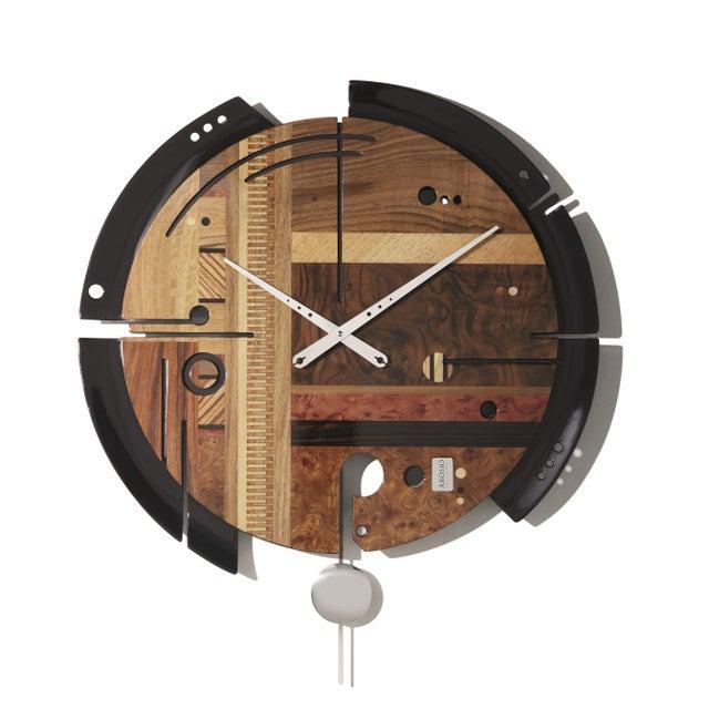 ArosioMilano Samada Brown Wall Clock For Sale - Image 9 of 9