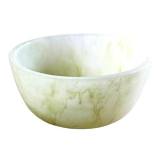 Martha Sturdy Minimalist Green Resin Bowl For Sale