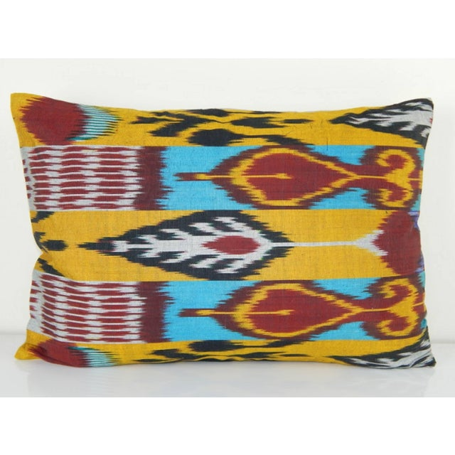 Vintage Ikat Colourful Pillow For Sale In Dallas - Image 6 of 6