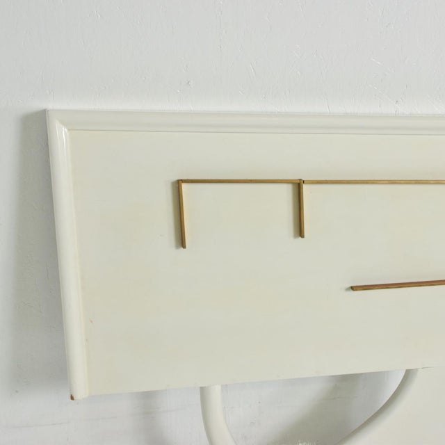 Gold Mid Century Mexican Modernist King Size Headboard For Sale - Image 8 of 10