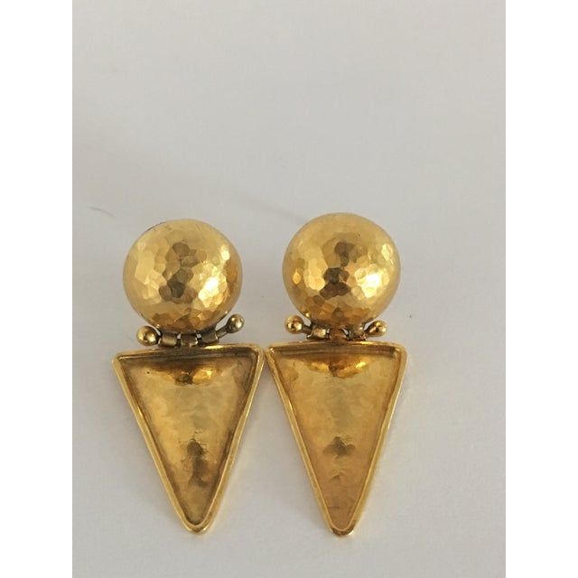 Italian Italian 18k Gold Earrings For Sale - Image 3 of 10