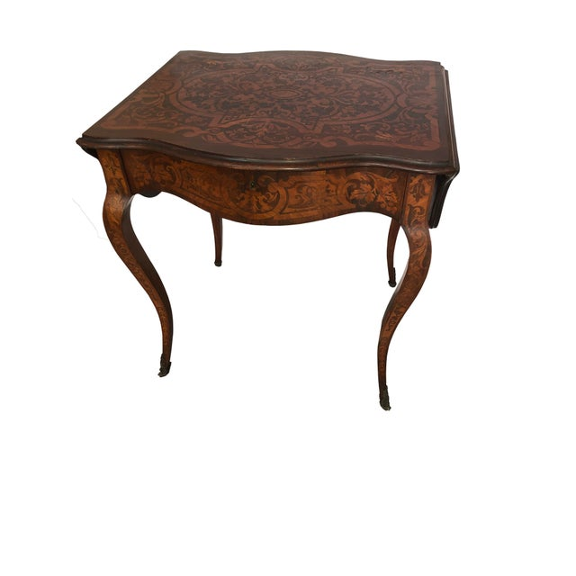 French Drop Leaf Table For Sale - Image 10 of 10