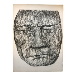 Large Face Etching by Mitchell Jamieson (1915-1976) For Sale