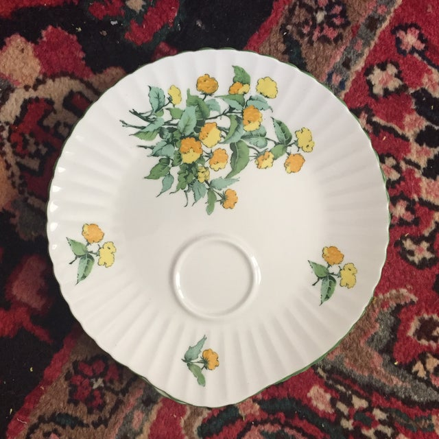 Cottage Staffordshire Cornwall Scalloped Teacup Dessert Plates - Set of 4 For Sale - Image 3 of 7