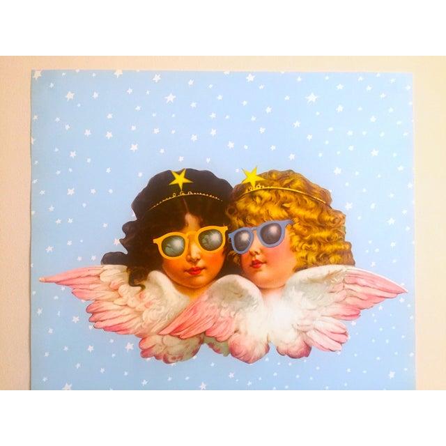 This original vintage 1980 rare Fiorucci New Wave Italian Fashion iconic cherub angels Post Modern Pop Art poster is an...