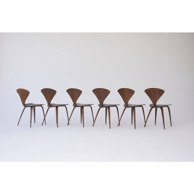 Set of Eight Norman Cherner Dining Chairs, Made by Plycraft in the Usa, 1960s For Sale - Image 6 of 9