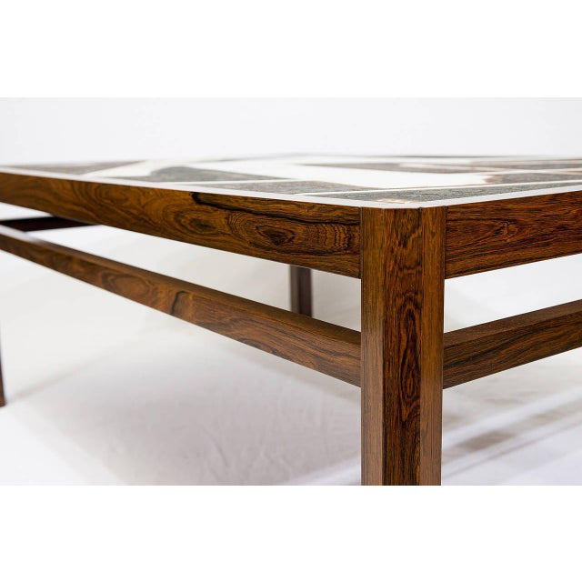 Danish Rosewood Abstract Tile Coffee Table - Image 6 of 10
