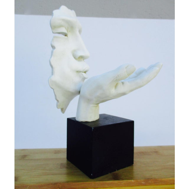 Modernist Sculpture the Kiss Abstract Hand For Sale - Image 4 of 11