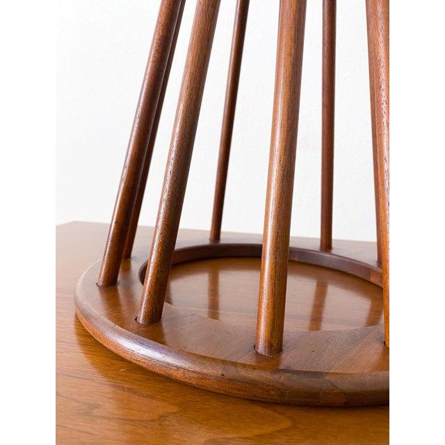 Mid-Century Modern Mid Century Walnut Stool by Arthur Umanoff For Sale - Image 3 of 10