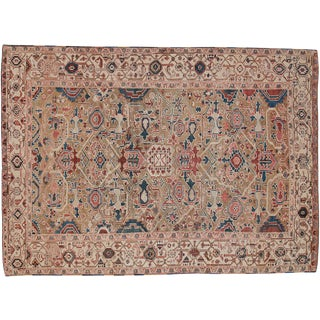 Antique Persian Heriz Rug - 8' X 11'1""