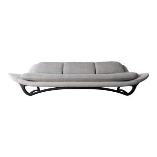 Mid-Century Sculpted Gondola Sofa For Sale