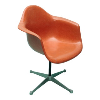 Mid Century Charles Eames Fiberglass Chair For Sale