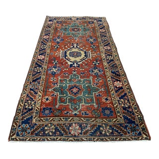 Early 20th Century Antique Persian Sarapi Heriz Rug - 3′ × 6′ For Sale