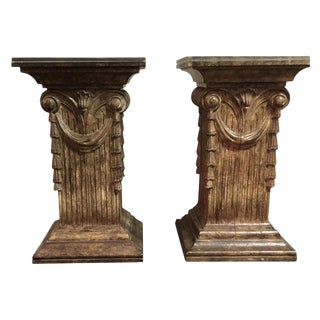 Pair of Italian Pedestal Dining Table Bases Late 20th Century For Sale