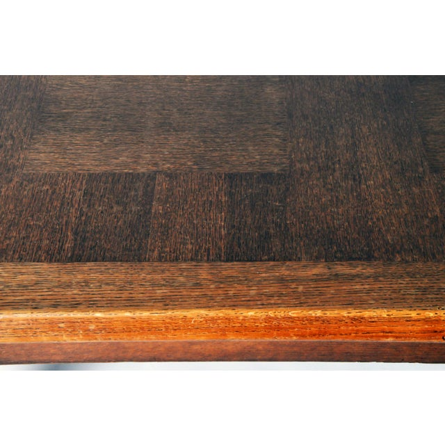 1970s Mid-Century Modern Extension Dining Table attributed to Guillerme et Chambron For Sale - Image 5 of 8
