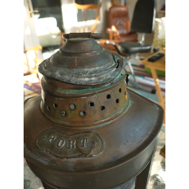 Mid 20th Century Copper Nautical Lanterns - a Pair For Sale - Image 12 of 13
