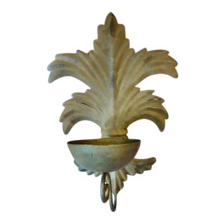 Acanthus Leaf Metal Candlesconce For Sale