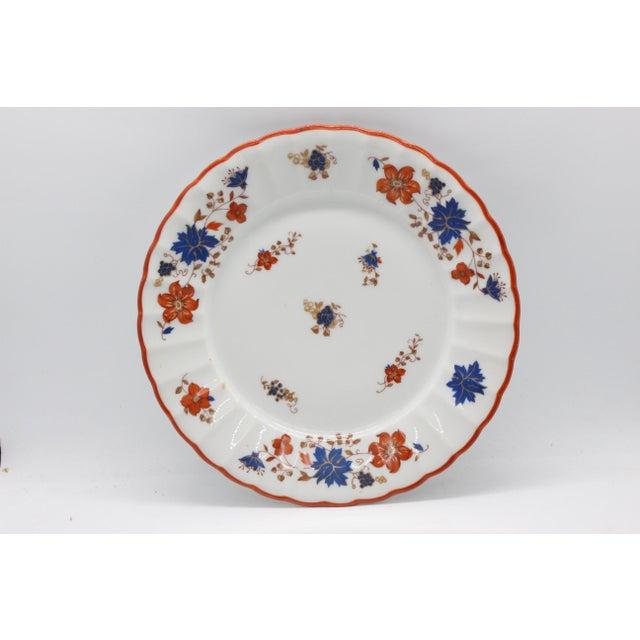 Antique German Porcelain Floral Dessert or Salad Plates - Set of 4 For Sale - Image 4 of 9