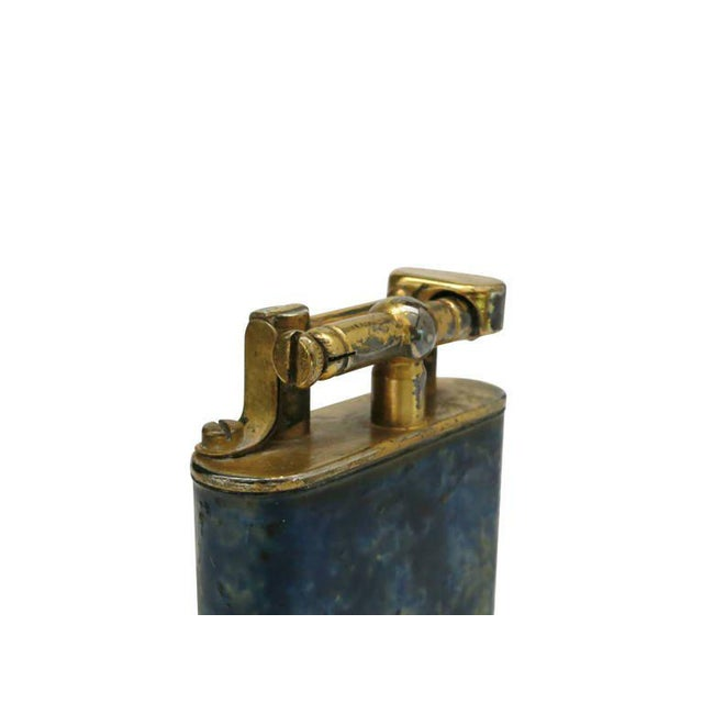 Aged Lift Arm Table Lighter by Dunhill - Image 5 of 9