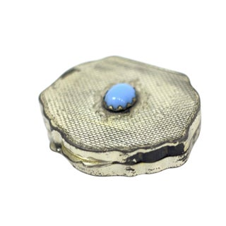 Vintage Silver Tone Pill Box