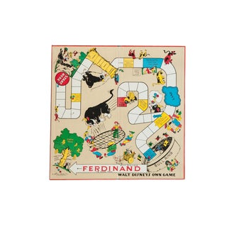Vintage 1930s Ferdinand the Bull Disney Game Board For Sale