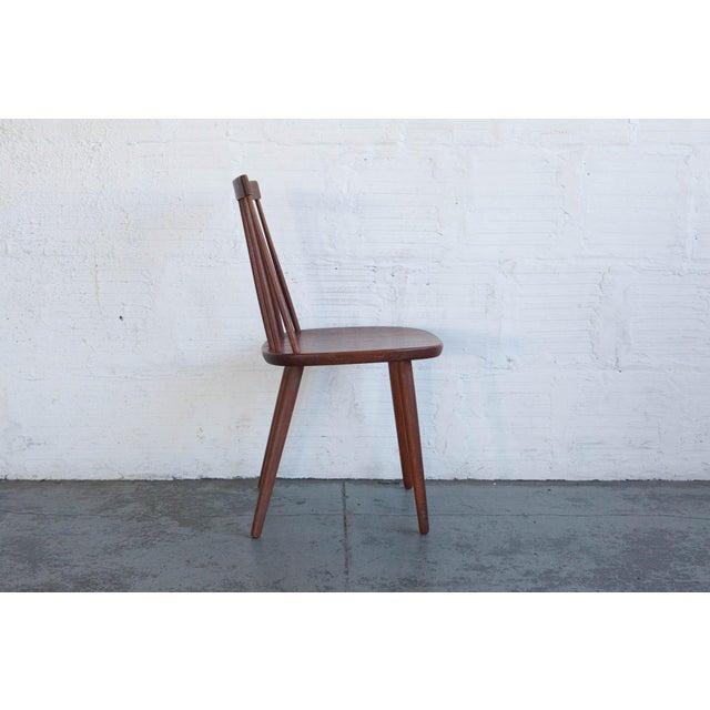 1950s Yngve Ekström Swedish Spindleback Teak Dining Chairs - Set of 4 For Sale - Image 5 of 10