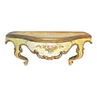 Venetian Painted Wall Bracket Shelf For Sale