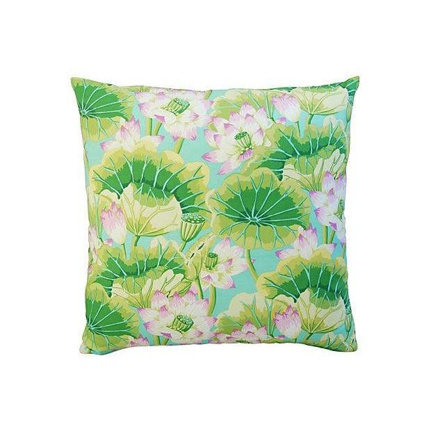 Kaffe Fassett Green Lotus Pillows - A Pair - Image 6 of 8