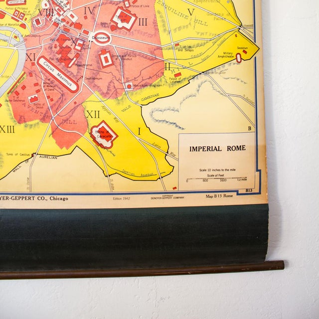 Metal Industrial Pull Down Map of Rome Italy and the Roman Empire For Sale - Image 7 of 9