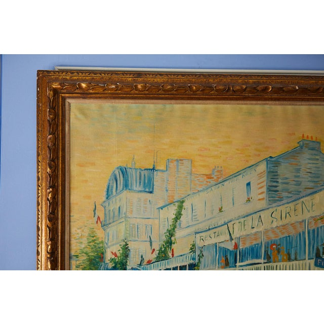 Large Impressionist Oil Painting of a French Street Scene For Sale - Image 4 of 13