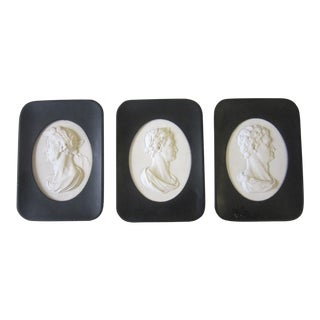 Stone Carved Intaglio - Set of 3 For Sale