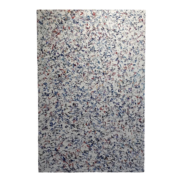 Ellie Riley Contemporary Abstract in White Acrylic Painting For Sale