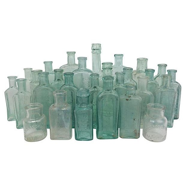 Antique English Apothecary Bottles - Set of 28 - Image 1 of 2