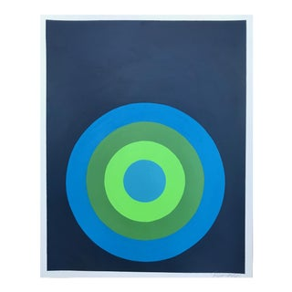 "Original ""Target Practice in Blue & Green"" Painting"