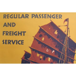 1950s Original Travel Poster, the East Asiatic Company, Ltd (Regular Passenger and Freight Service) For Sale
