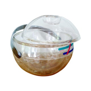 1980's Guzzini Clear Ice Bucket