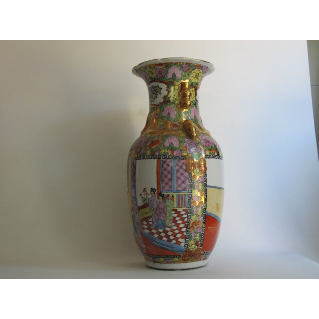 Chinese Gilded Floral Floor Vase - Image 4 of 10
