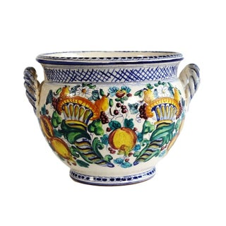 Italian Painted Ceramic Pot
